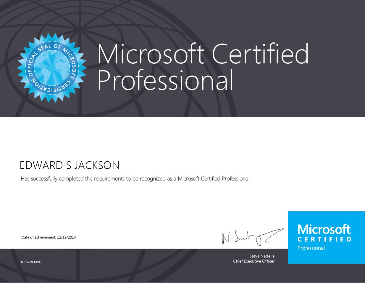 Windows 2012 certified