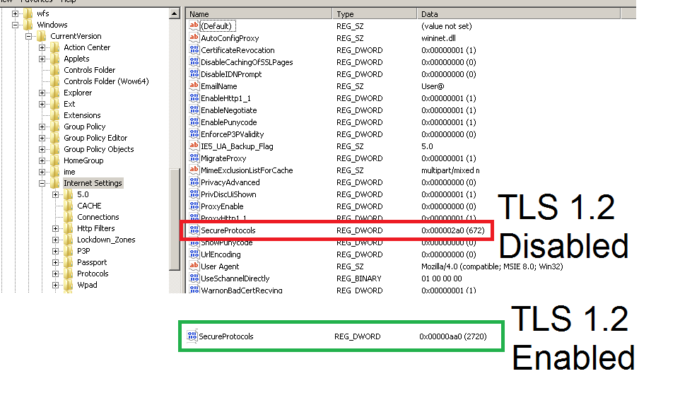 Enable/Disable TLS Registry Setting   Eddie Jackson