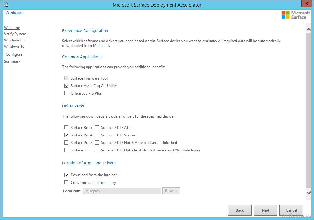 Microsoft Surface Deployment Accelerator Installation