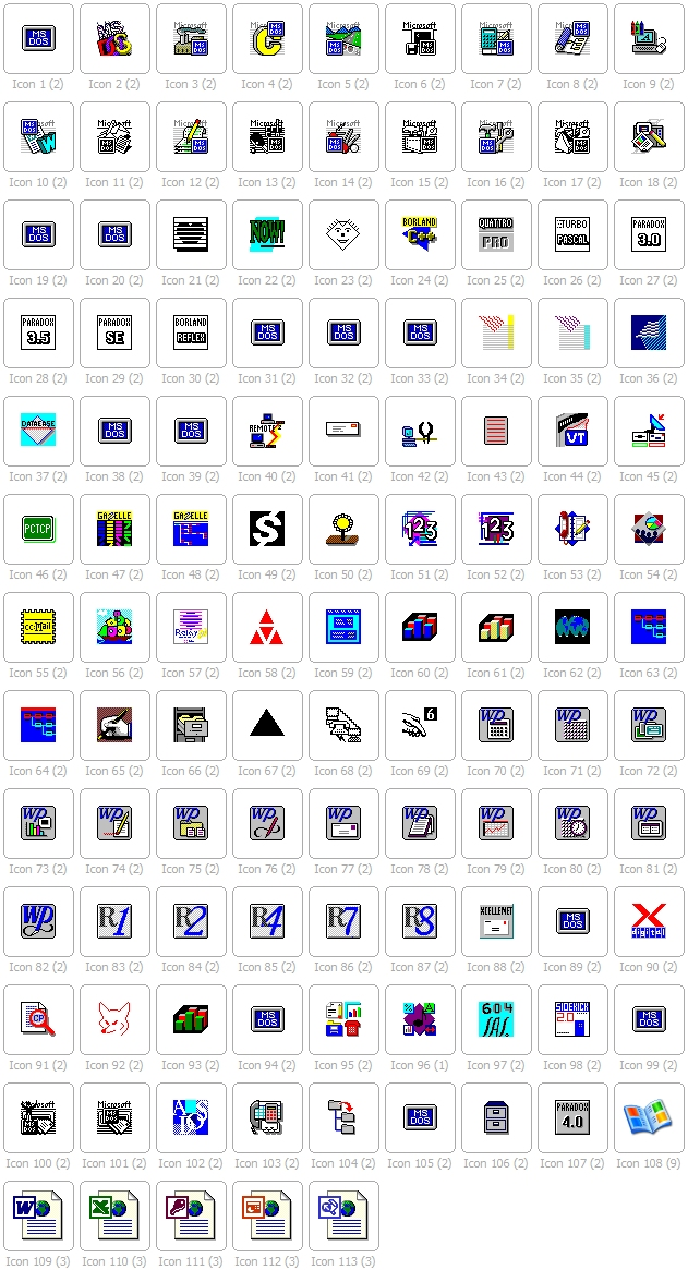 moricons.dll icons